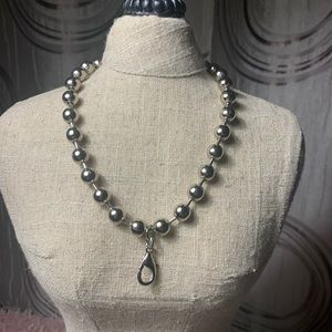 Silver Jewel Kade Extra Large Ball Necklace 16 in